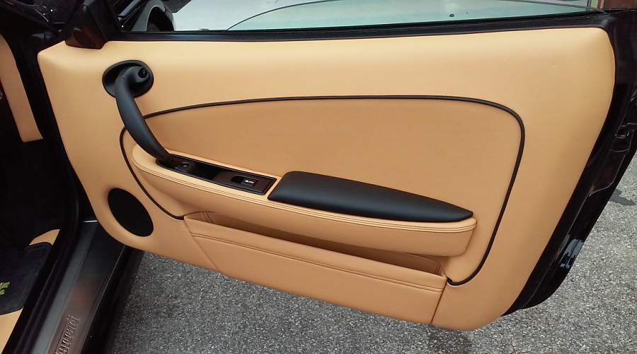 On The Passenger Side The Door Pull Is Also In Black And Adds Additional Contrast.