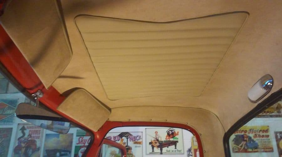 Simulated Suede Headliner With 50's Design Leather Insert